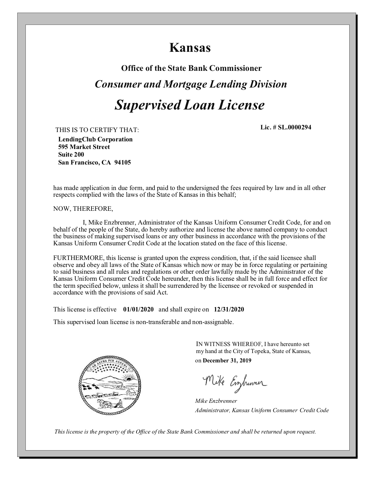 kansas-supervised-loan-license-2020