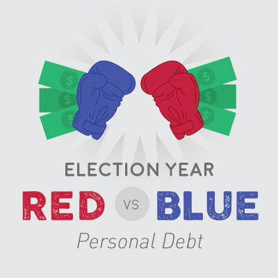 U.S. Debt Infographic red vs. blue