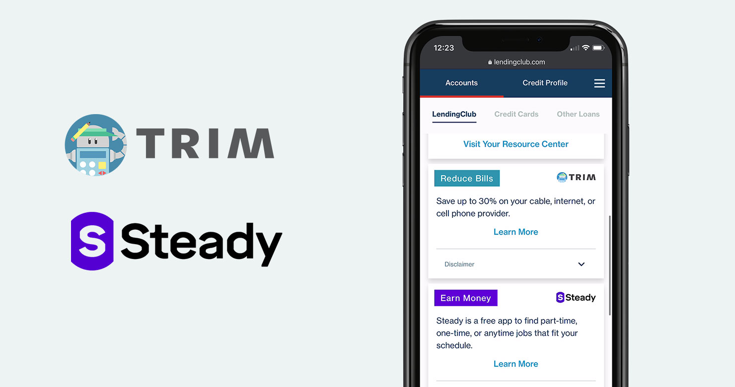 LendingClub partners with Trim and Steady